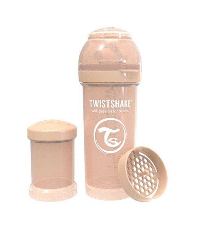 Twistshake Biberon anti-colique TwistShake 260 ml - Beige Pastel