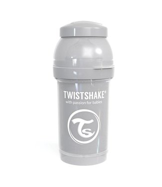 Twistshake TwistShake baby bottle anti-colic 180 ml - Pastel gray