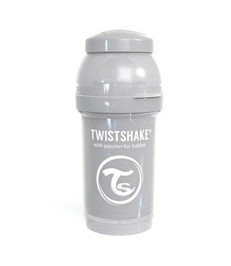 Twistshake TwistShake babyfles antikoliek 180 ml - Pastel grijs