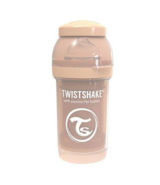 Twistshake TwistShake baby bottle anti-colic 180 ml - Pastel beige