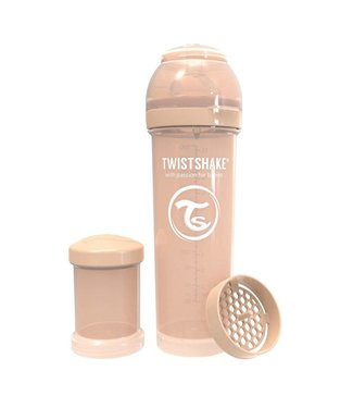 Twistshake Biberon anti-colique TwistShake 330ml - Beige pastel