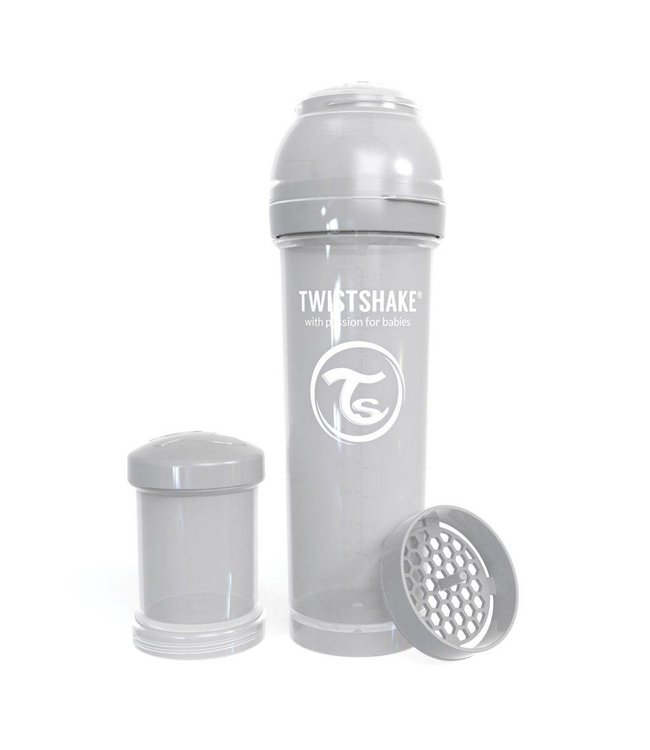 Twistshake Biberon anti-colique TwistShake 330ml - Gris pastel