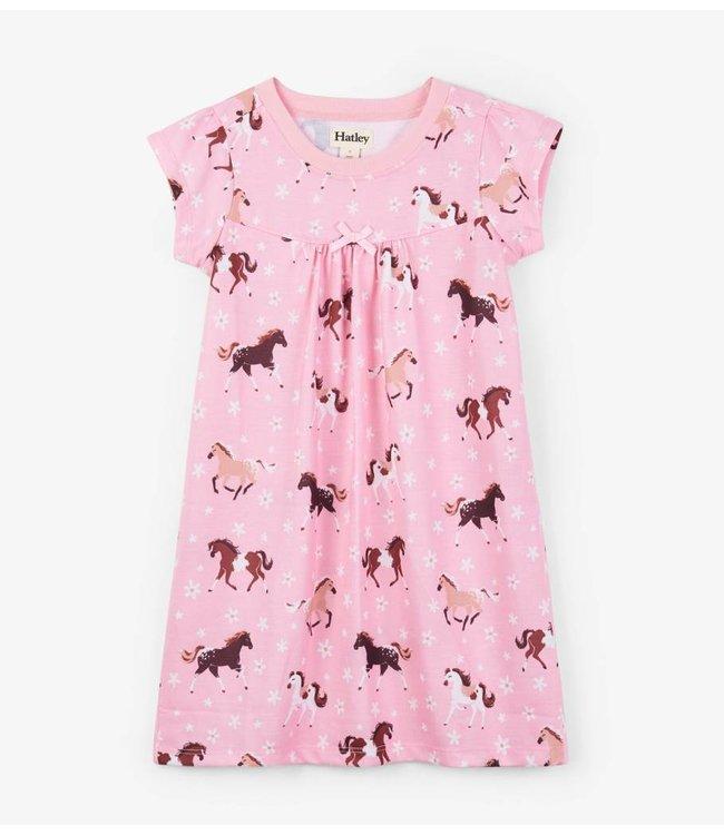 Hatley Hatley nightgown Frolicking Horses