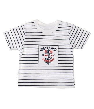 Babybol Tshirt blanc bébé garçons Babybol océan