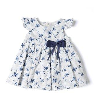 Babybol Robe bleue à fleurs bébé fille poupée