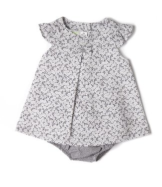 Babybol Babybol  girls gray floral dress