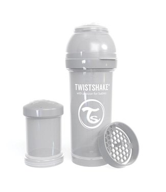 Twistshake TwistShake baby bottle anti-colic 260ml - Pastel gray