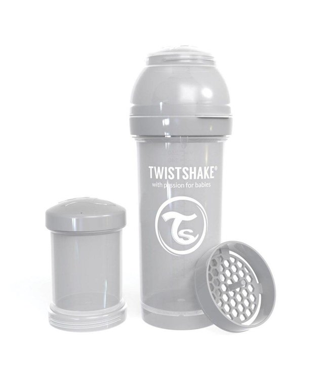 Twistshake Biberon anti-colique TwistShake 260ml - Gris pastel