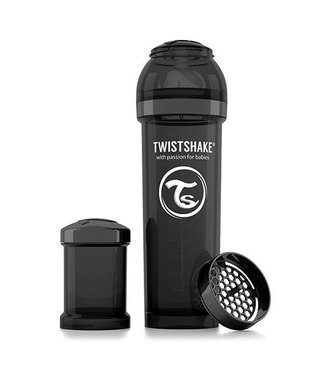 Twistshake TwistShake babyfles antikoliek 330ml - zwart