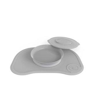 Twistshake Twistshake Clickmat + plate Pastel gray