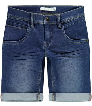 Name-it Name-it boys long shorts Sofus Dnmtaxt Medium Blue