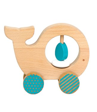 Petit collage Petit collage wooden push animal whale