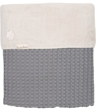 Koeka Koeka crib blanket Oslo steelgrey / pebble