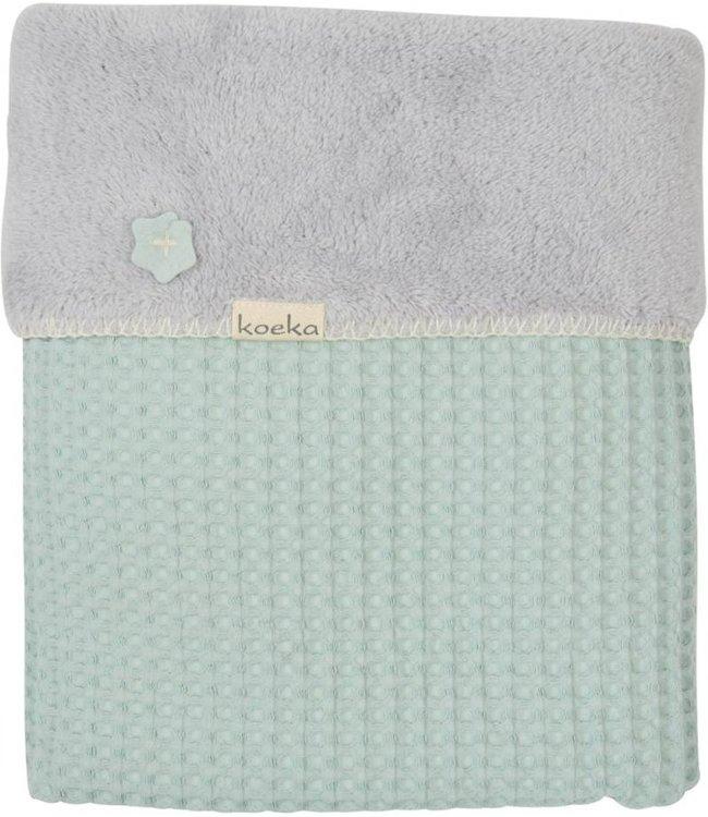 Koeka Koeka crib blanket Oslo misty mint / silver gray