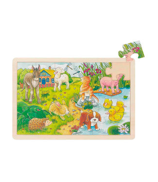 Goki Goki window puzzle bébé animaux 24pcs