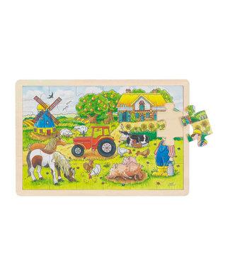 Goki Goki raampuzzel boerderij 24st