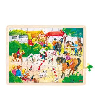 Goki Puzzle de fenêtre en bois Goki sautant 96e