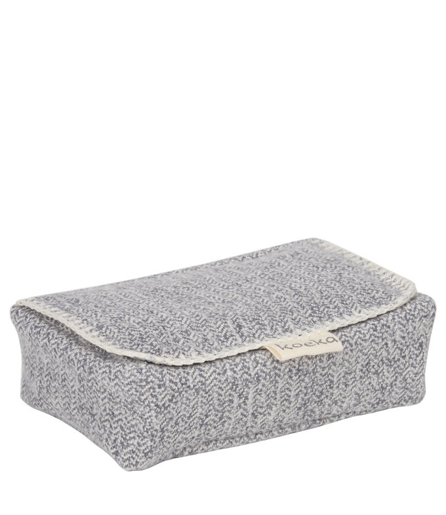 Koeka Koeka hoes voor babydoekjes Vigo Sparkle grey
