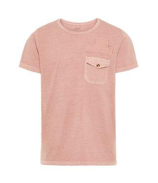 Name-it Name it jongens tshirt Fasil Silver Pink