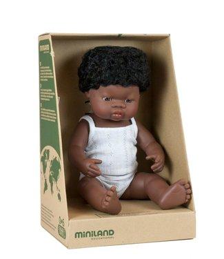 Miniland Miniland babypop Afrikaans meisje 38cm