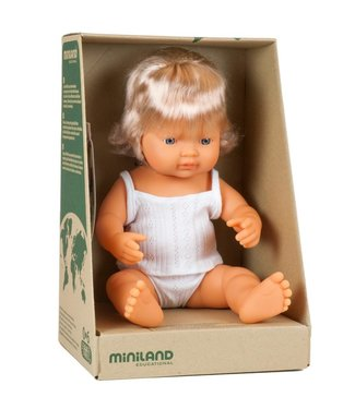 Miniland Miniland baby doll European girl 38 cm