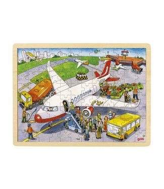 Goki Goki houten raampuzzel op de vlieghaven 96st