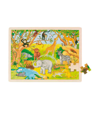 Goki Goki wooden window puzzle Arfika 48st