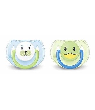 Avent Avent set of 2 pacifiers 6-18M Blue / green