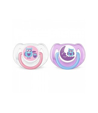 Avent Avent set 2 pacifiers 6-18M Owl
