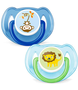 Avent Avent set of 2 pacifiers 6-18M animals