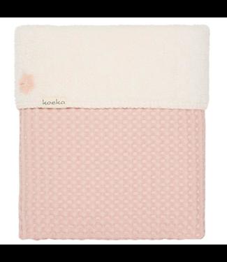 Koeka Koeka baby crib blanket Oslo baby pink / pebble