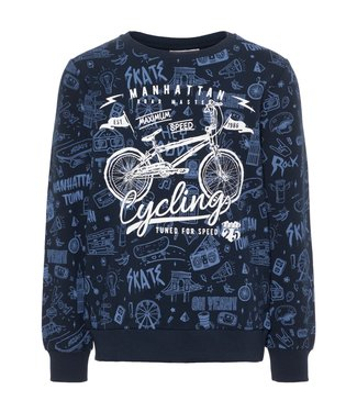 Name-it Name-it blauwe jongens sweater Kriss