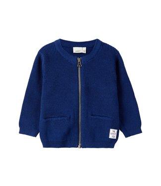 Name-it Name-it blue boys zipper cardigan Keman
