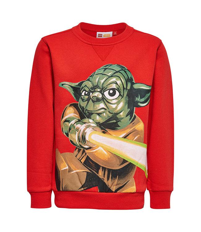 Lego wear Pull garcon rouge Star Wars Yoda