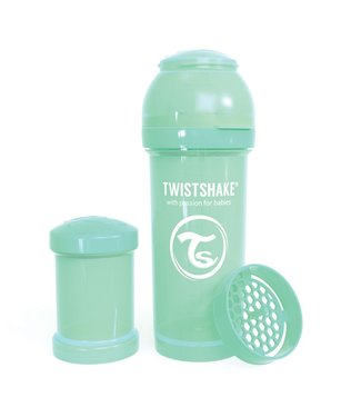 Twistshake TwistShake babyfles antikoliek 260ml - Pastel green