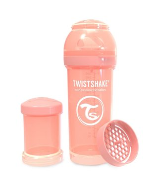 Twistshake TwistShake babyfles antikoliek 260ml - Pastel peach