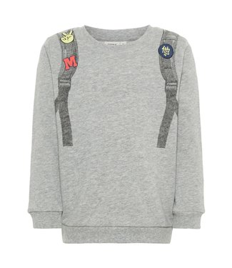 Name-it Name it grijze jongens sweater Lau