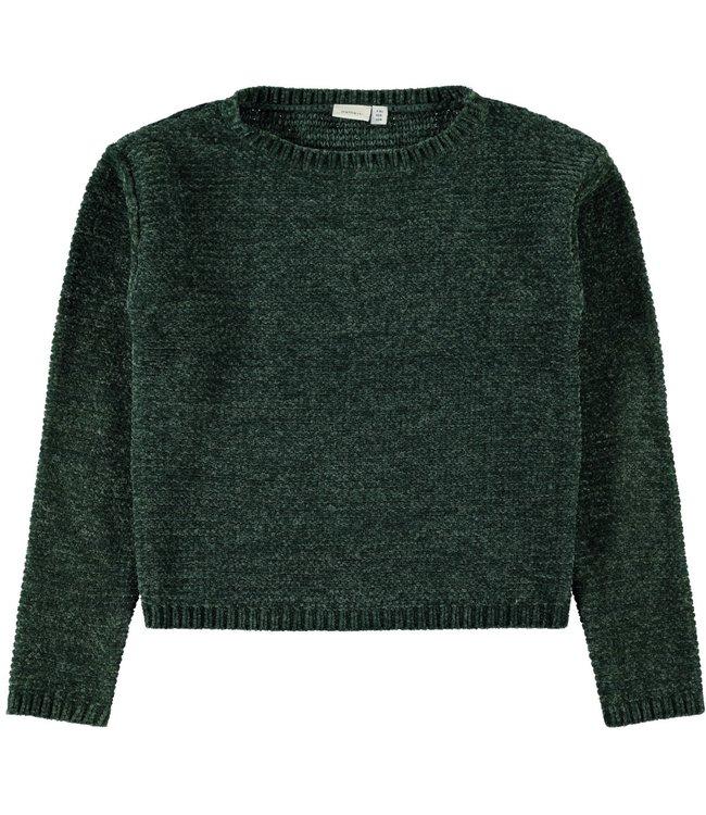 Name-it Name it green girls sweater Lisia