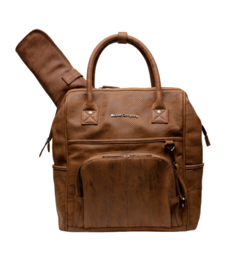 Little Company Little company Riga Perfo Cognac grooming backpack