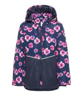 Name-it Name it girls winter jacket Maxi Pink Flower