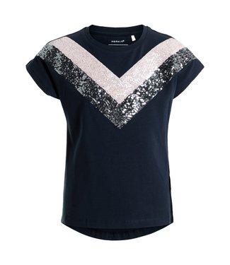 Name-it Name-it meisjes t shirt Kristbjorg Dark Sapphire