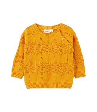 Name-it Name-it girls newborn sweater Ninia Golden Orange