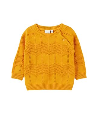 Name-it Name-it meisjes newborn trui Ninia Golden Orange