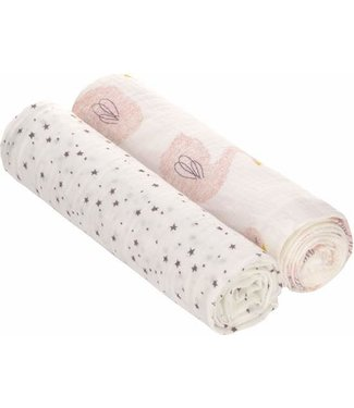 Lassig Lassig Heavenly soft swaddle cloth / diaper XL 2 pieces Little Water Swan