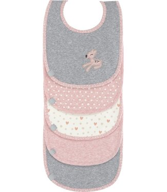 Lassig Lassig Bib 5-piece Lela Light Pink