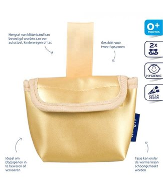 Difrax Difrax Pacifier bag - Gold