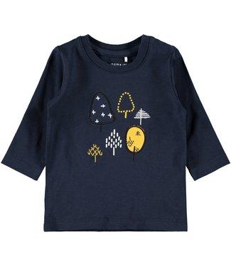 Name-it Name-it jongens newborn t-shirt Natan Dark Sapphire