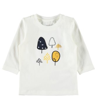 Name-it Name-it jongens newborn t-shirt Natan Snow white