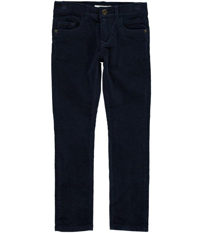 Name-it Pantalon d'hiver garçon en velours bleu Name-it Robin