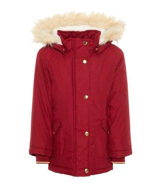 Name-it Name-it girl winter jacket NMFMOA Parka Biking Red